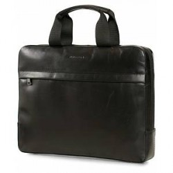 J.Lindeberg Computer Leather Bag Black