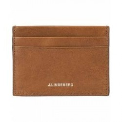 J.Lindeberg Credit Card Holder Cognac