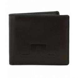 J.Lindeberg Damien Leather Wallet Black