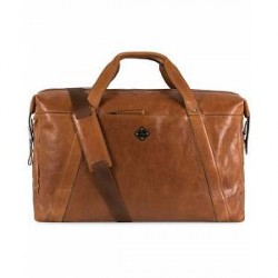 J.Lindeberg Dylan Leather Weekendbag Mid Brown