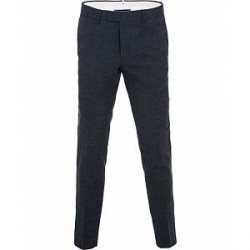 J.Lindeberg Grant Wool/Linen Structure Trousers Mid Blue