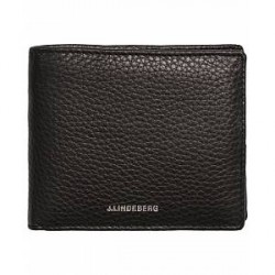 J.Lindeberg Leather Wallet Black