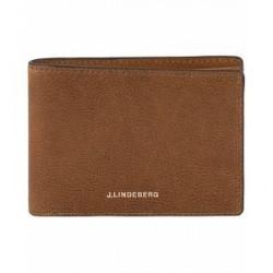J.Lindeberg Leather Wallet Cognac