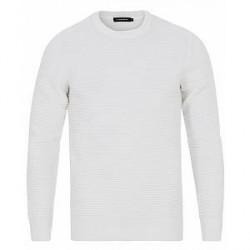 J.Lindeberg Lexter Square Structure Crew Neck Off White