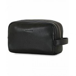 J.Lindeberg Mick Leather Washbag Black