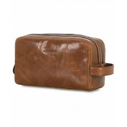 J.Lindeberg Mick Leather Washbag Brown