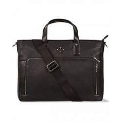 J.Lindeberg S-Bag 50005 Mix Leather Briefcase Black