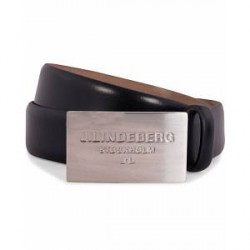 J.Lindeberg S-Belt 52000 Cow Leather 3 cm Black