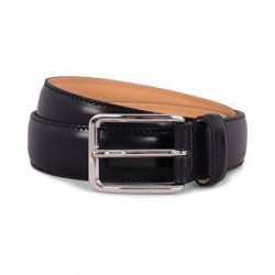 J.Lindeberg S-Belt 52003 Cow Leather 3 cm Black