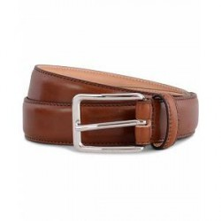 J.Lindeberg S-Belt 52003 Cow Leather 3 cm Cognac