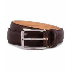 J.Lindeberg S-Belt 52003 Cow Leather 3 cm Dark Brown