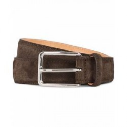J.Lindeberg Suede 3 cm Belt Dark Brown