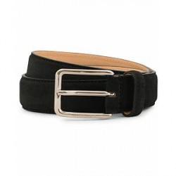 J.Lindeberg Suede 3,0 cm Belt Black