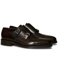 John Lobb William Double Monkstrap Dark Brown Calf men UK10 - EU44 Brun