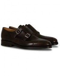 John Lobb William Double Monkstrap Dark Brown Misty Calf men UK11 - EU45 Brun