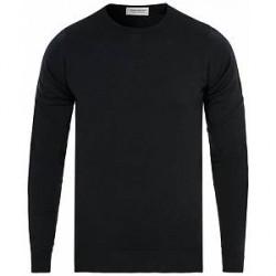 John Smedley Lundy Merino Crew Neck Pullover Black