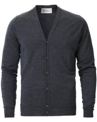 John Smedley Petworth Merino Cardigan Charcoal men XL Grå