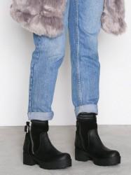 Johnny Bulls Suede Detail Zip Boot Heel Sort