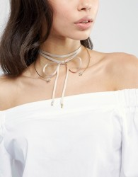 Johnny Loves Rosie Aria Mink And Gold Choker Necklace - Gold