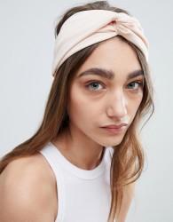Johnny Loves Rosie Blush Pleat Knot Wide Headband - Pink