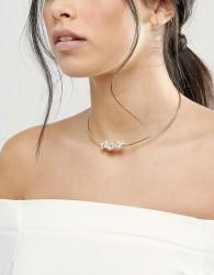 Johnny Loves Rosie Blush Stone Choker Necklace - Gold