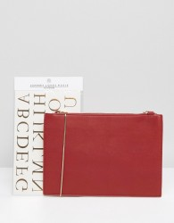 Johnny Loves Rosie Clutch Bag With Personalisation Foil Letters - Red