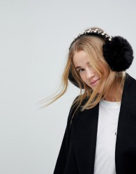 Johnny Loves Rosie Embellished Ear Muff - Black