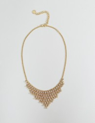 Johnny Loves Rosie Gem Drop Statement Necklace - Gold