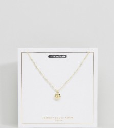 Johnny Loves Rosie Gold Plated Zodiac Cancer Disc Necklace - Gold