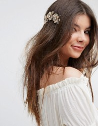 Johnny Loves Rosie Large Petal Hairband - Gold