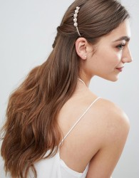 Johnny Loves Rosie Pearl Detail Hair Comb - Gold