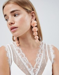 Johnny Loves Rosie Pink Floral Statement Earrings - Pink