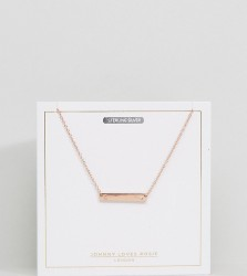 Johnny Loves Rosie Rose Gold Plated C Initial Bar Necklace - Gold