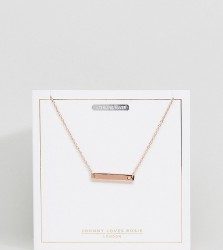 Johnny Loves Rosie Rose Gold Plated L Initial Bar Necklace - Gold