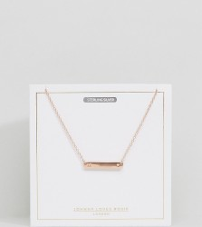 Johnny Loves Rosie Rose Gold Plated M Initial Bar Necklace - Gold