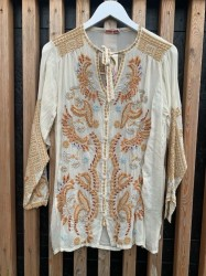 Johnny Was - Minerva Blouse - Shell