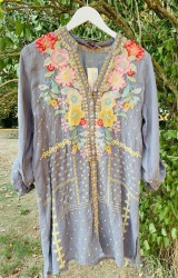 Johnny Was - Penn Tunic - Dusty Blue