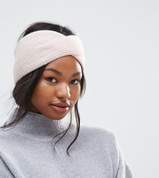 Johnstons of Elgin 100% Cashmere Exclusive Knitted Headband - Pink