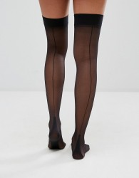 Jonathan Aston Backseam and Heel Stockings - Black