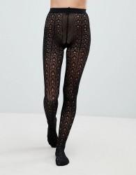 Jonathan Aston Crochet Lace Tight - Black