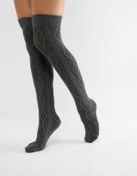 Jonathan Aston Harmony Over The Knee Sock - Grey