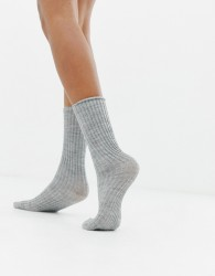 Jonathan Aston Rib Sock - Grey