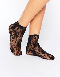 Jonathan Aston Sweet Roses Anklets - Black