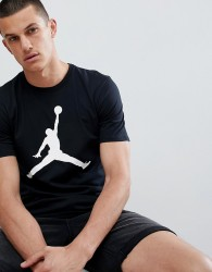 Jordan Jumpan T-Shirt With Large Logo In Black 908017-010 - Black