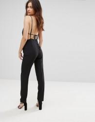 Jovonna Kloss Cut Out Jumpsuit - Black