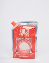 Juice Lightning 1M Cable in coral - Pink