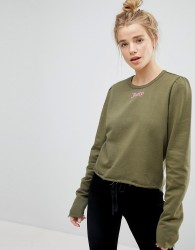 Juicy By Juicy Couture Gothic Logo Print Sweatshirt with Puff Sleeve - Green