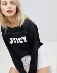 Juicy By Juicy Couture Logo Long Sleeve Top - Black