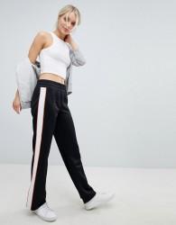Juicy By Juicy Couture Retro Wide Leg Jogger With Split Hem - Black