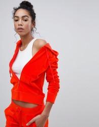 Juicy Couture Black Label Velour Hoodie - Red
